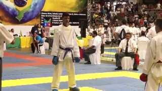 Campeonato Brasileiro de Karate 2014 - 83 - Cat Kumite junior - Campeão Bras - Alerrandro Cesar(, 2014-10-18T20:08:35.000Z)