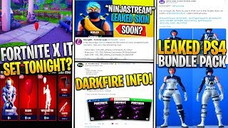*NEW* Fortnite: Ninja Skin Leak, IT Skin Set/POI, Leaked Rocket TEST, PS4 Skin Early, DARKFIRE SET!