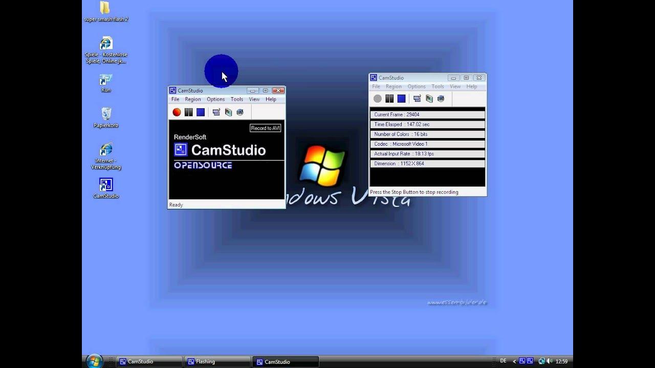 Step 1. Install ScreenPressor and CamStudio