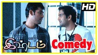 Ishtam Movie Scenes   Santhanam Comedy   Vimal and Nisha break up   Yuvarani tries to convince Vimal