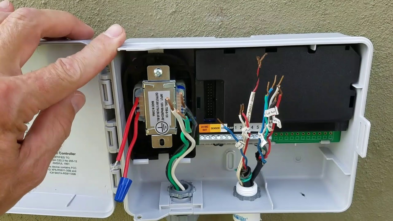 Install b-hyve smart wifi (hardware to a/c pwr) on