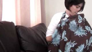 How To Use A Nursing Cover For Breastfeeding Youtube