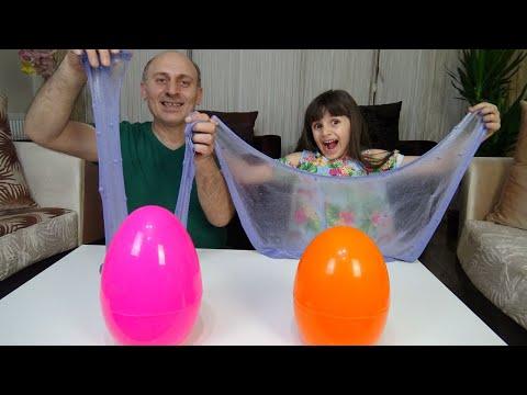 Sürpriz Yumurtadan Ne Çıkacak? Slime Challenge! Funny Kids Video Prenses Lina