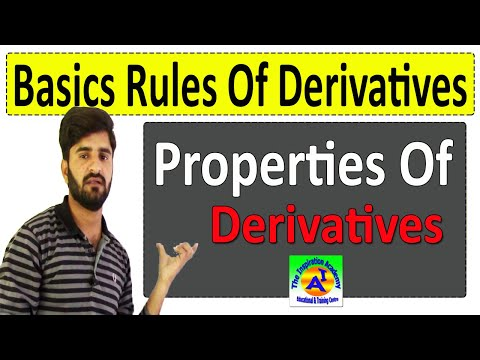 Basic Rules Of Derivatives | Properties Of Derivative