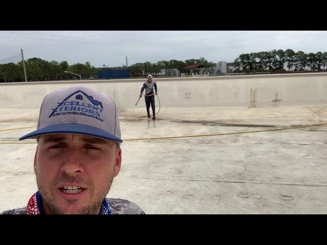 SoftWashing a TPO Roof in Lakeland, Florida
