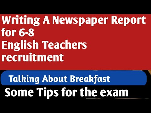 Writing A Newspaper Report For  English Teachers Recruitment