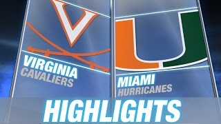 Virginia vs Miami | 2014-15 ACC Men