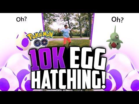 Pokemon Go - 10K EGG HATCHING + CRAZY LARVITAR CANDIES!