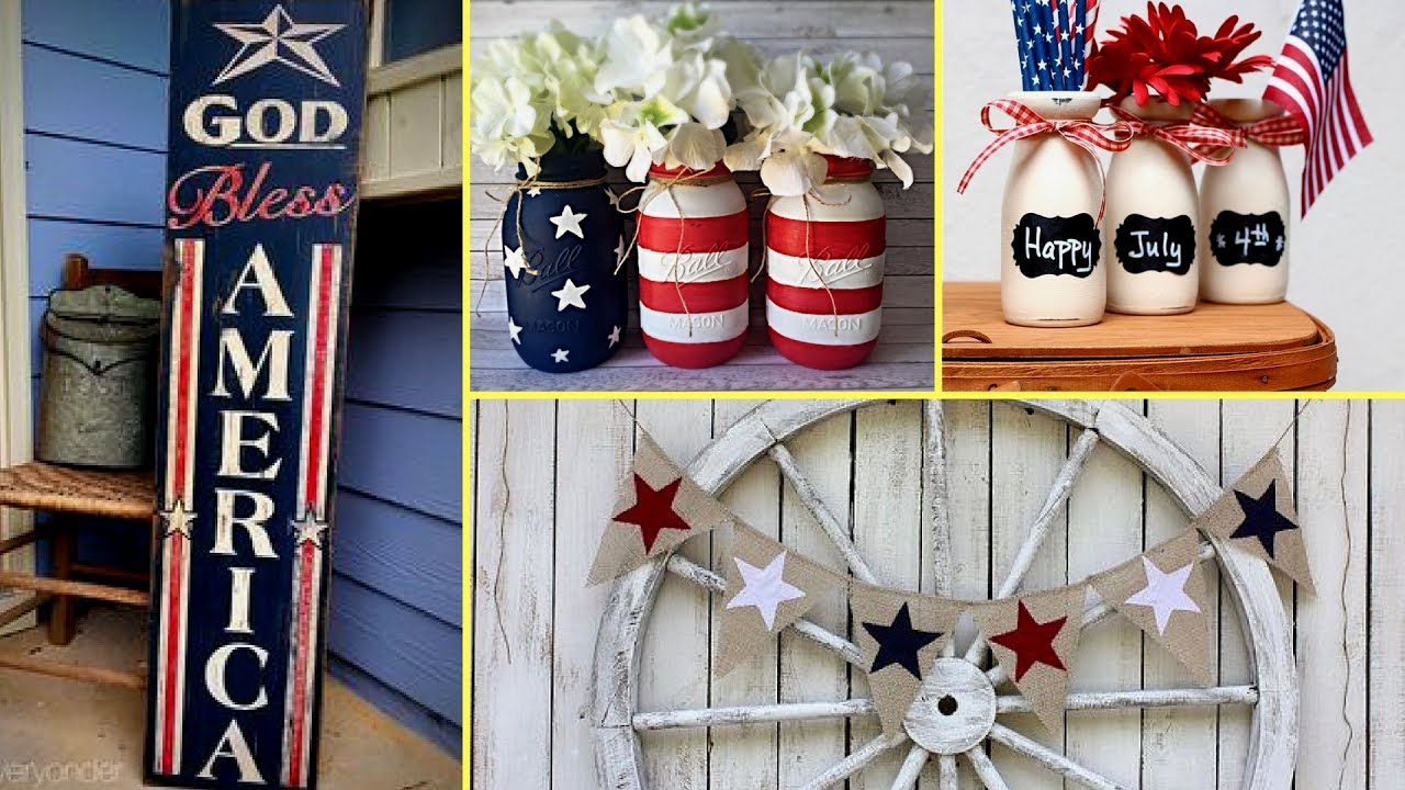DIY Rustic Country Chic 4th Of July Decor| DIY Home Decor Ideas |❤