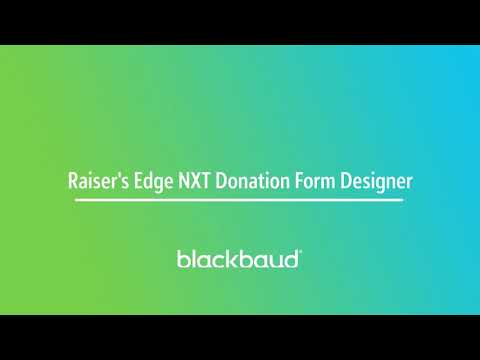 Blackbaud Raiser's Edge NXT In a Flash: Donation Forms