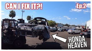 Rebuilding a Wrecked Honda S2000 With 80k Miles Part 2 (Copart Rebuild)