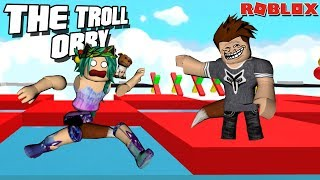 TRICKING MY DAUGHTER INTO PLAYING A TROLL OBBY -- ROBLOX
