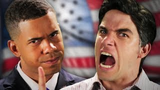 Repeat youtube video Barack Obama vs Mitt Romney. Epic Rap Battles Of History Season 2.