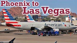 Full Flight: American Airlines A320 Phoenix to Las Vegas (PHX-LAS)
