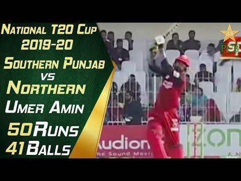 Umar Amin  Batting Highlights   Southern Punjab vs Northern   National T20 Cup 2019-20