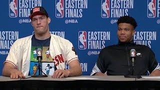 Giannis Antetokounmpo & Brook Lopez Postgame Interview - Game 1 | Raptors vs Bucks