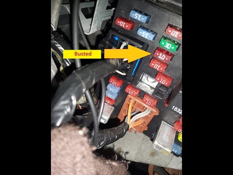 DIY fix Hummer H2 heated power seat mirror compass not working repair it