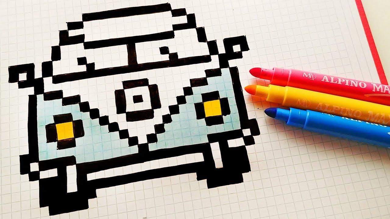 Handmade Pixel Art How To Draw A Volkswagen Pixelart