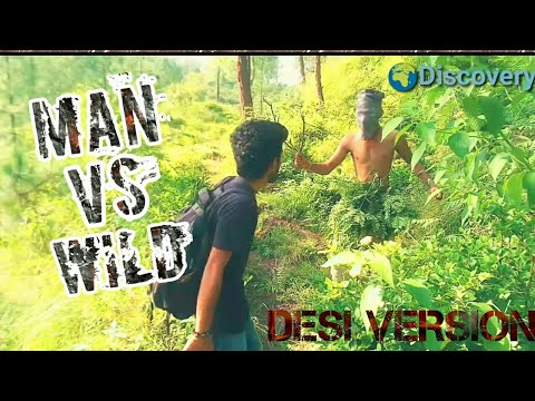 Man Vs Wild (Desi version)|| funny spoof || HIMACHALI ||Discovery ||kangra boys 2017