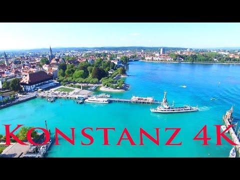 Konstanz am Bodensee von oben