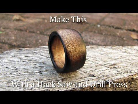 Make a Charred Whisky Barrel Finish Wood Ring