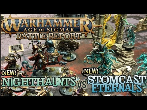 Warhammer: Age of Sigmar 2nd Edition Battle Report - NEW Nighthaunts vs. NEW Stormcast!