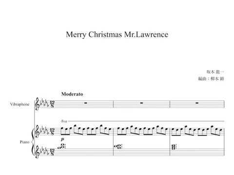 Merry Christmas Mr. Lawrence - Arrangement for Vibraphone