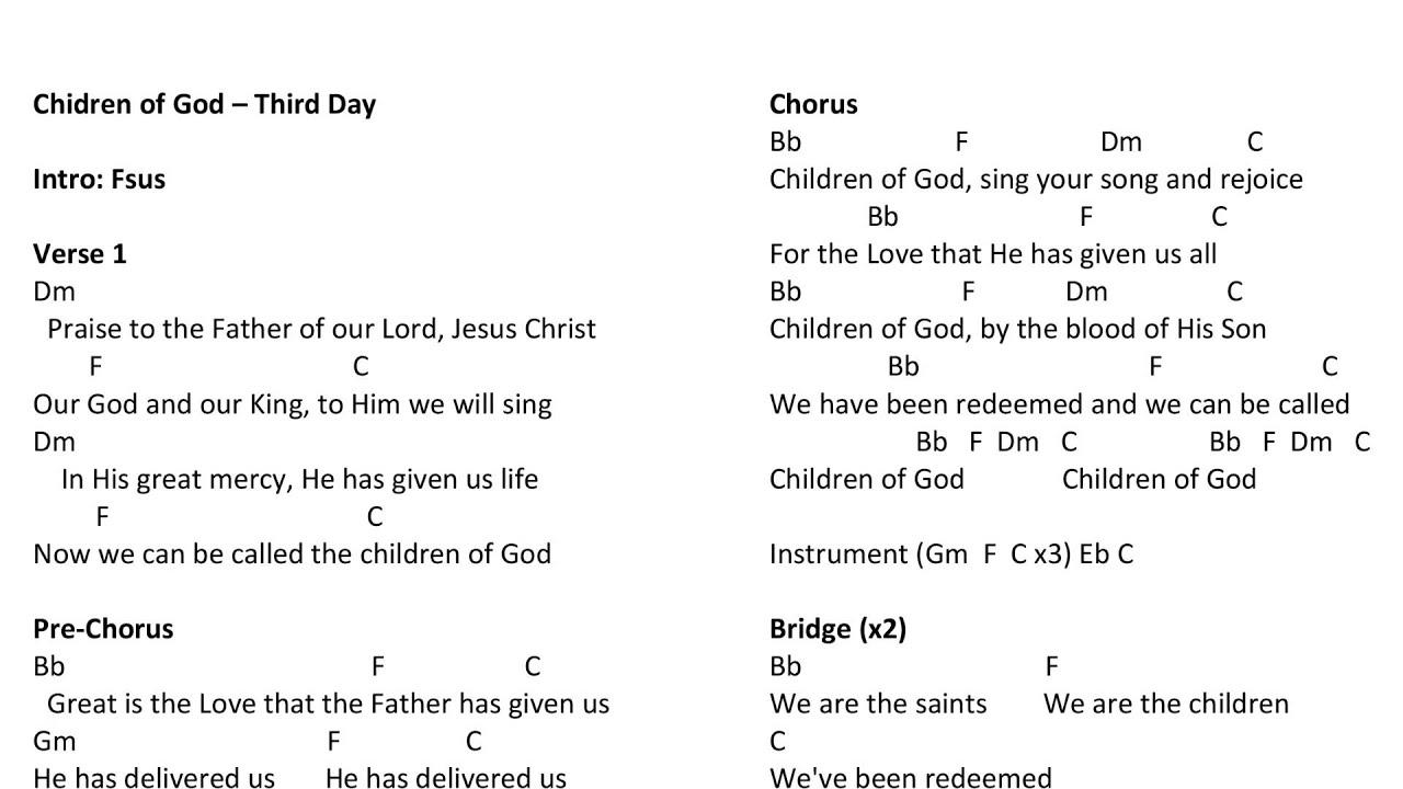 Children of god third day chords youtube children of god third day chords hexwebz Image collections