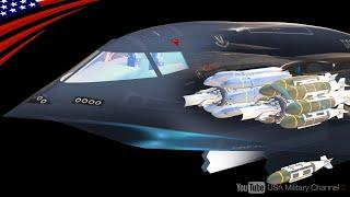"【B-2スピリットのウェポンベイ内部はどうなってる?】2000億円の爆撃機!超巨大兵器""GBU-57""は何発積める?"