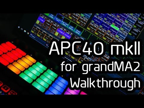Akai APC40 mkII for grandMA2 Software Package Rig Rundown