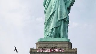 Statue Of Liberty Gets A Sweet New Sign