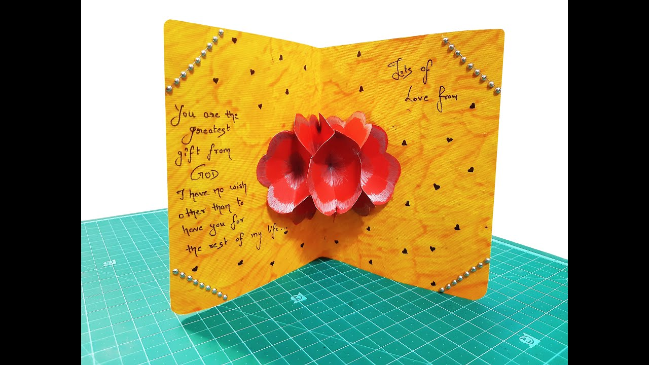 how to make blooming flower greeting card  diy craft gift
