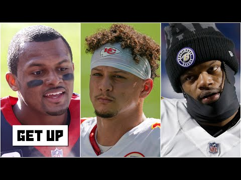 What is Lamar Jackson's contract worth compared to Patrick Mahomes and Deshaun Watson? | Get Up