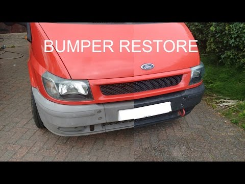 Restore Faded Plastic Bumpers and Trim to Back to Black