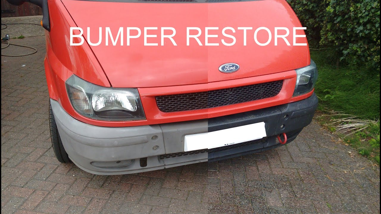 Restore Faded Plastic Bumpers And Trim To Back To Black Youtube