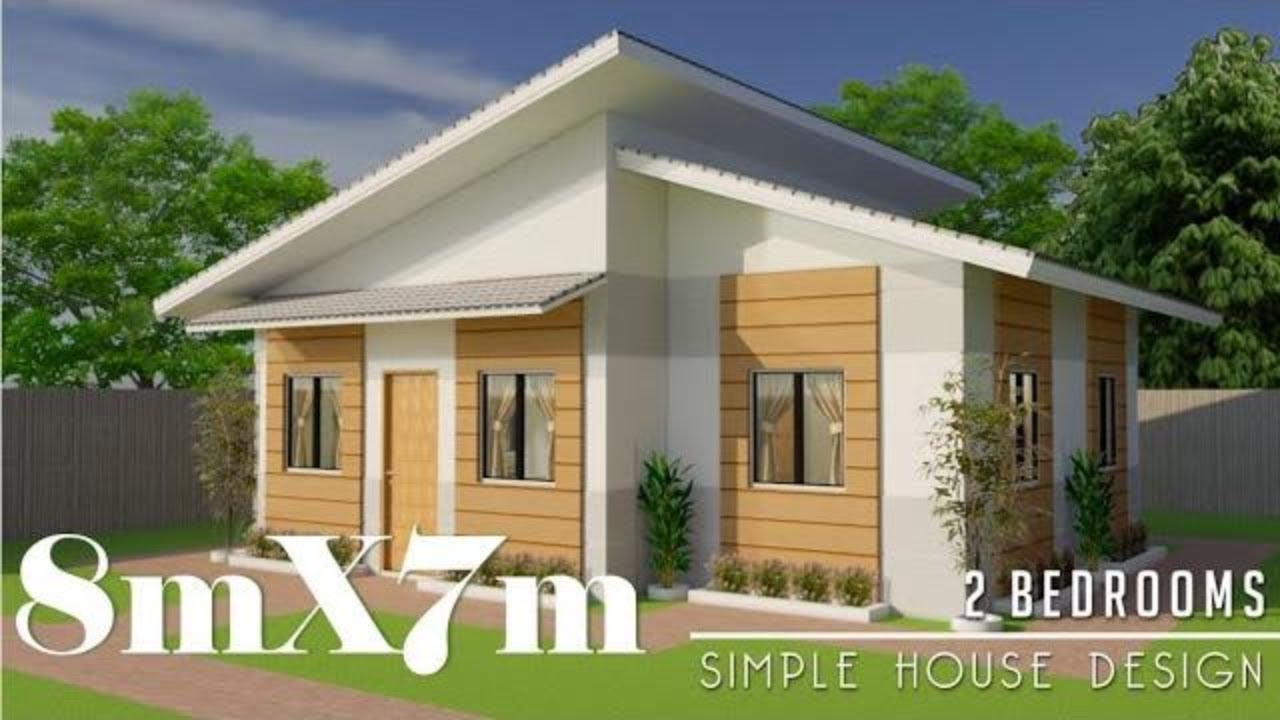 8mx7m (56sq.m) Simple House Design with 2 Bedrooms - YouTube