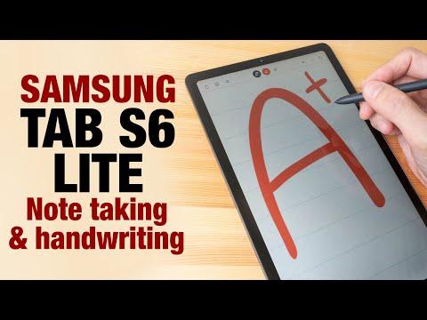Samsung Tab S6 LITE Note Taking And Handwriting Demo