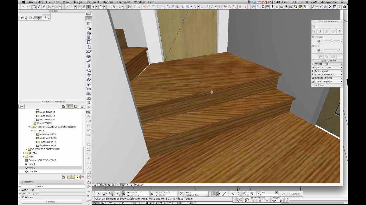 ArchiCAD Tip #10: MORPH improving stairs