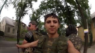 Выход из Славянска. Донецк. Броня нас подвозит. 5 июля 2014