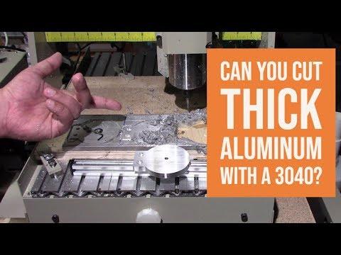 3040 CNC  - Cutting Thick Aluminum Success!