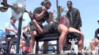 MUSCLE BEACH RAW BENCH PRESS 2013 | ANTITHESIS APPAREL HIGHLIGHTS