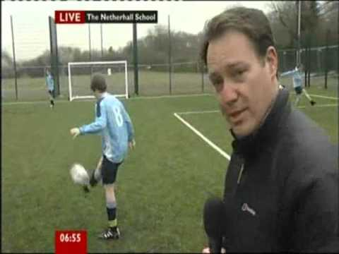 BBC Breakfast presenter asking Jake his name