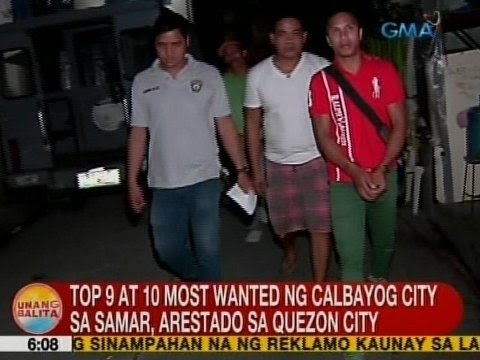 UB: Top 9 at 10 most wanted ng Calbayog City sa Samar, arestado sa QC