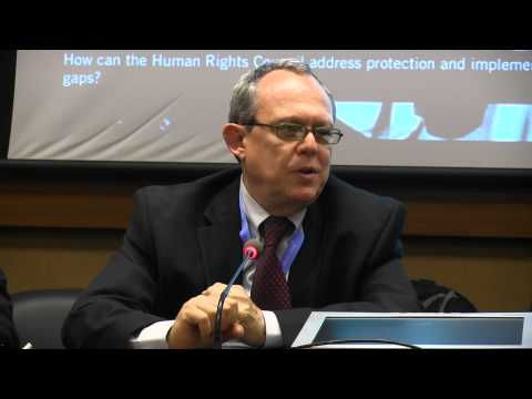 "26th Session, Side Event: Protecting Journalists , ""Frank La Rue"""