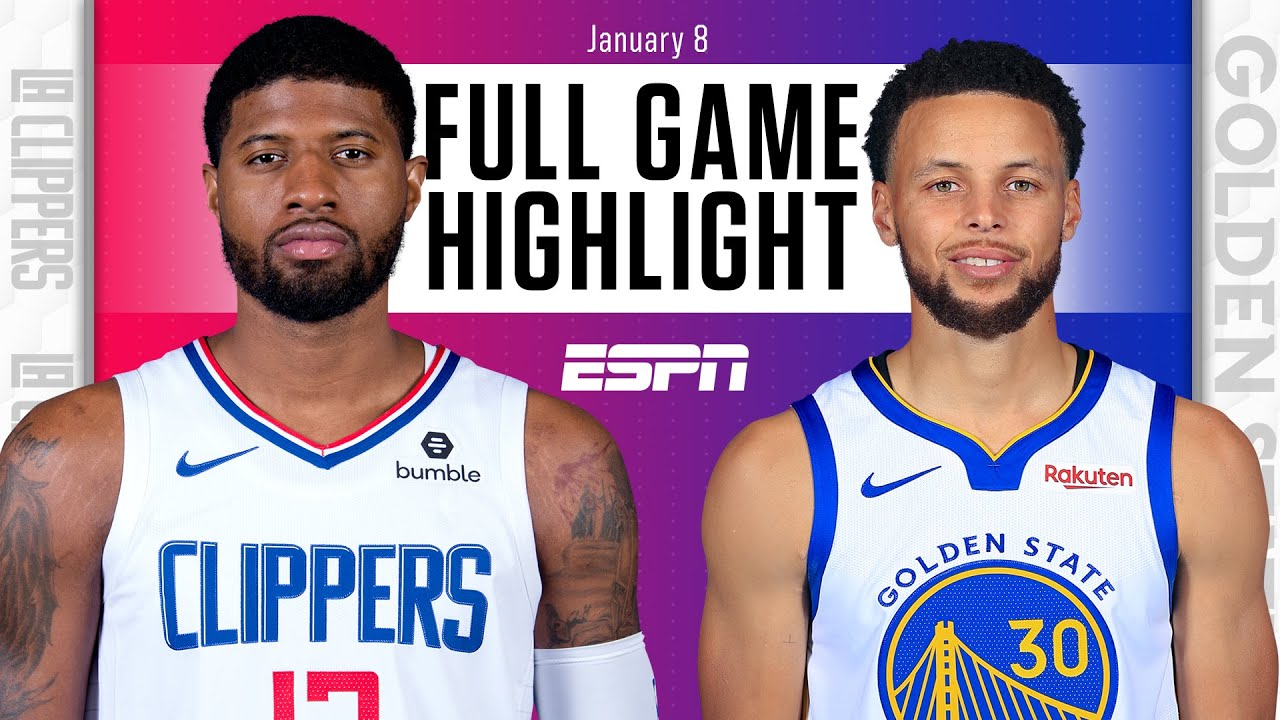 La Clippers Vs Golden State Warriors Full Game Highlights Nba On Espn Youtube