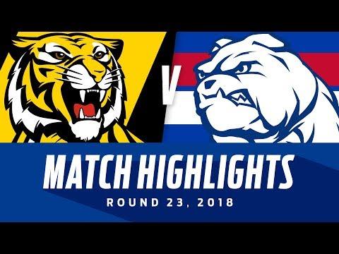 Richmond v Western Bulldogs Highlights | Round 23, 2018 | AFL