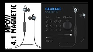 Video MPOW wireless bluetooth 4.1 Magnetic headphone Stereo Sport sweat proof earphones Aliexpres Unboxing download MP3, 3GP, MP4, WEBM, AVI, FLV Agustus 2018