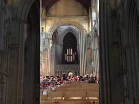 Northern Symphonia practice Ripon cathedral