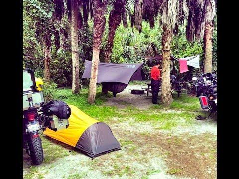 Motorcycle Hammock Camping Koreshan State Park Adv Youtube