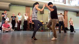 "Frank Santos and Alina Moskvina Choreography Workshop on ""Vocales de Amor"" by Joan Soriano"